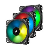 Corsair ML120 PRO RGB Premium Magnetic Levitation LED PWM Fan Triple Pack with Lighting Node PRO