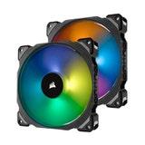 Corsair ML140 PRO RGB Premium Magnetic Levitation LED PWM Fan Dual Pack with Lighting Node PRO