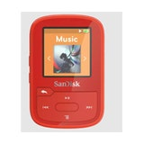 SanDisk Clip Sport Plus 16GB Wearable, Bluetooth MP3 Player Red